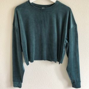 NWT Wild Fable Velour Crop Top